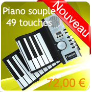 Piano souple flexible clavier silicone