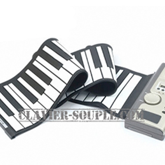 clavier silicone voyage 49 touches synthé souple