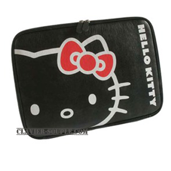 sacoche tablette tactile et nottebook hello kitty noir